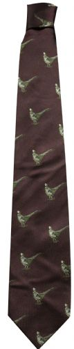 Bisley Silk Tie - Burgundy Pheasants (JR-BIT16)